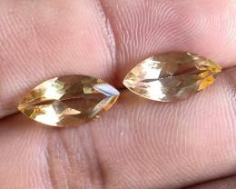 7x14mm Citrine Pair Natural Marquise Faceted Gemstone VA2797