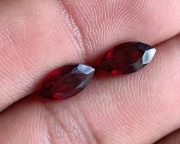 10x5 mm Garnet Pair Marquise cut 100% NATURAL AND UNTREATED VA2831