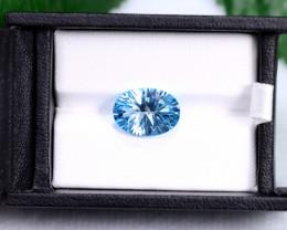 6.79 CT Natural Swiss Blue Topaz Oval Cut Stone TP003