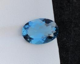 Top Quality 6.15 ct London Blue Topaz Big Size~M