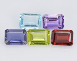 Semi-Precious 5.34 Cts 5 Pcs Mix Collection Natural Gemstone - Parcel