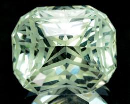 ~CUSTOM CUT~ 5.47 Cts Natural Prasiolite / Amethyst Fancy Cushion Brazil~CU