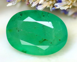 Emerald 2.86Ct Natural Zambia Green Emerald D2419/A38
