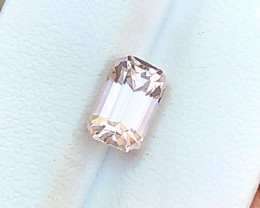 2.70 Carats Natural Kunzite Cut Stone from Afghanistan