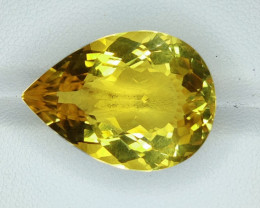 22.50 CTS DAZZLING  NATURAL CITRINE PEAR