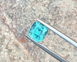 1.90 Carats Natural Blue Tourmaline Cut Stone from Afghanistan