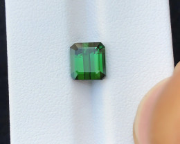 2.25 Ct Natural Green Transparent Tourmaline Gemstone