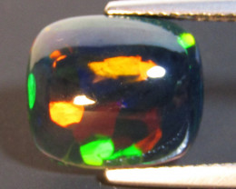 2.93Cts Natural Earth Mined Color Play Opal Cushion Cabochon Loose Gem