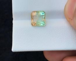 2.30 Ct Natural Bi Color Transparent Tourmaline Ring Size Gemstone