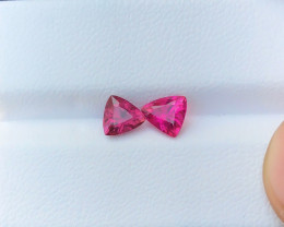 1.20 Ct Natural Red Transparent Rubellite Tourmaline Gemstones Parcel