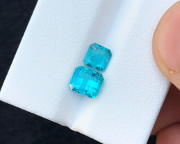 2.20 Ct Natural Blue Transparent Tourmaline Ring Size Gemstones Parcel