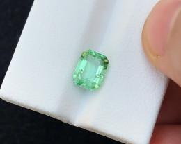 2.10 Ct Natural Green Transparent Tourmaline Gemstone