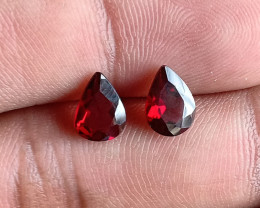 8x6 mm Garnet Gemstone Pair 100% NATURAL AND UNTREATED VA2849