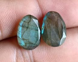 13x9mm Labradorite 100% Natural + Untreated Faceted Gemstone VA2857