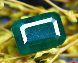 Emerald 1.62Ct Natural Zambia Green Emerald D2617/A38