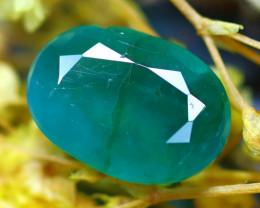 Emerald 3.00Ct Natural Zambia Green Emerald E2720/A38