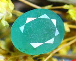 Emerald 4.04Ct Natural Zambia Green Emerald E2721/A38