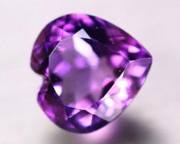6.47ct Natural Purple Amethyst Heart Cut Lot  V8697