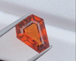 Certified Exotic Rare Gem ~ Full of Fire ~ 5.45 Carat Natural Mandarin Garn