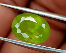 5.25Crt Green Sphene Color Change Natural Gemstones JI97