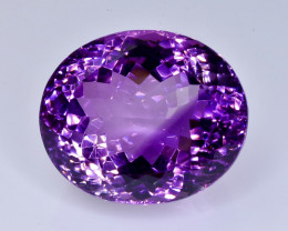 39.00 Crt  amethyst   Natural  Faceted Gemstone.( AB 48)