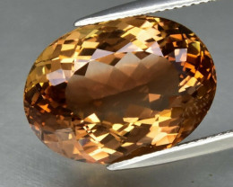 20.34  ct. Top Quality Natural Earth Mined Topaz Orangey Brown Brazil