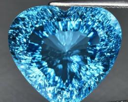 32.65 ct. 100% Natural Swiss Blue Topaz Top Quality Gemstone Brazil