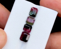 4.20 Carats Natural Bi Color Tourmaline Cut Stones from Afghanistan