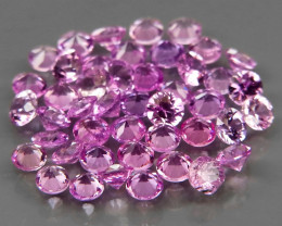 45Pcs/3.77Ct.Round 2.4 mm.Beautiful Color!Natural Earth Mined Pink Sapphire