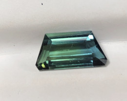 Natural Bi Colour Blue And Green Tourmaline Gemstone From Afghanistan