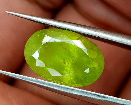 6.22Crt Green Sphene Color Change Natural Gemstones JI98