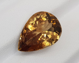 Natural Pear Brown Topaz Faceted Gemstone