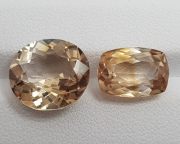 Natural Pair Topaz Oval Shape
