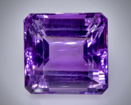 29.64  Crt  amethyst  Faceted Gemstone (Rk-47