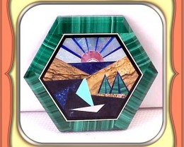 33.0ct. Finest Hand Made Mirror Finish Gem Intarsia