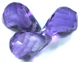 AMETHYST FACETED briolettes 6.30 CTS CG-951