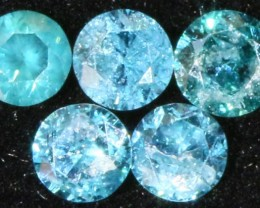 PARCEL  5 X 2 POINTERS VS BLUE DIAMONDS 0.21 CARATS  OP 1144