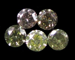 PARCEL 5  ARGYLE CHAMPAGNE  DIAMONDS VS 0.23CARATS  OP 1168