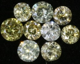 PARCEL 9 ARGYLE CHAMPAGNE  DIAMONDS VS 0.34 CARATS  OP 1161