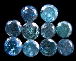 PARCEL10 X 2 POINTERS VS BLUE DIAMONDS  0.36 CARATS OP 1193