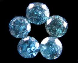 PARCEL  5 X 2 POINTERS VS BLUE DIAMONDS 0.21 CARATS  OP 1198