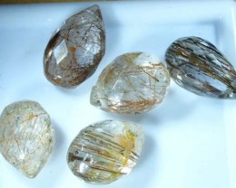 RUTILATED QUARTZ BRIOLETTE (5 PCS) 8.5 CTS CG-771