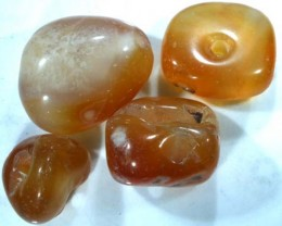 CARNELIAN FACETED BEADS (4PCS) 52 CTS NP-964