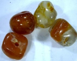 CARNELIAN FACETED BEADS (4 PCS) 45.3 CTS NP-1087