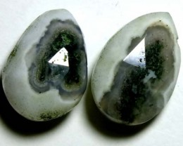 SOLAR QUARTZ DRILLED BEAD (2PCS) 13.35CTS NP-1256