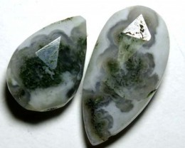 SOLAR QUARTZ DRILLED BEAD (2PCS) 13.60CTS NP-1259