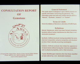 FRONT AND BACK OF CERT