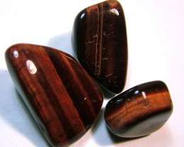 RED TIGER EYE 3 STONES 192CTS NP-1173