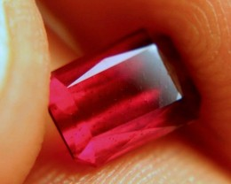 1.76 Carat VS Scissor Cut Cherry Ruby - Beautiful