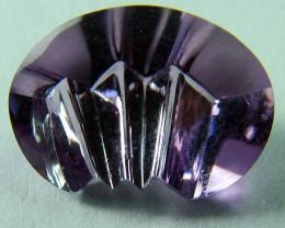 Amethsyt Laser Cut Stone 'untreated' 2.50 carats An1551